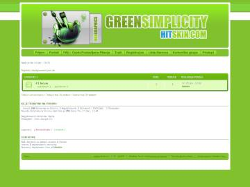 Skin - Green Simplicity Preview